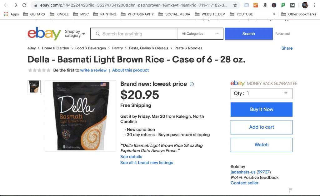 Coronovirus scam ebay seller jadashats-us item description
